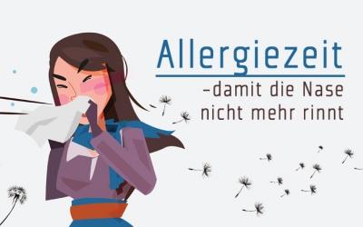 Allergiezeit - damit die Nase nicht mehr rinnt